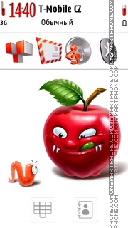 Angry Apple. theme screenshot