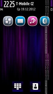 PurpleFibers theme screenshot