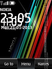 Black nokia digital clock 01 theme screenshot