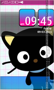 Chococat Cat Full Touch theme screenshot