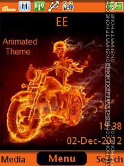 Capture d'écran Firebiker thème