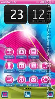 Life is pink theme screenshot