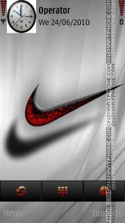 Just do it nike theme screenshot