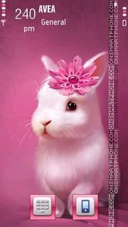 Cute Rabbit tema screenshot