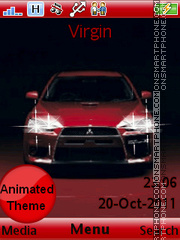 Mitsubishi Evo theme screenshot