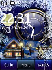 Winter House Dual Clock theme screenshot