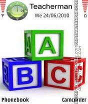 ABC Cubes theme screenshot