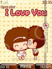 Cute Love es el tema de pantalla