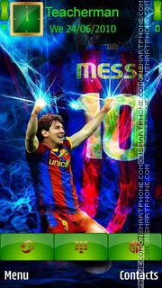 Lionel Messi 2013 theme screenshot