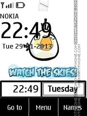 Angry Bird Clock 02 theme screenshot