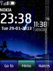 Night Digital Clock theme screenshot