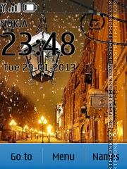 Winternight tema screenshot