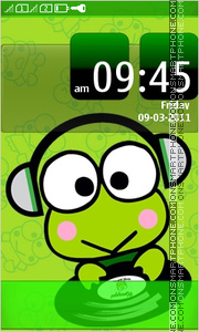Keroppi Full Touch theme screenshot