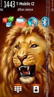 Ferocious Lion theme screenshot