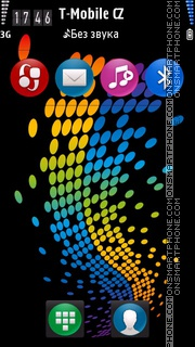 Colorful Dots es el tema de pantalla