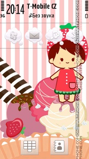 Strawberry 13 theme screenshot
