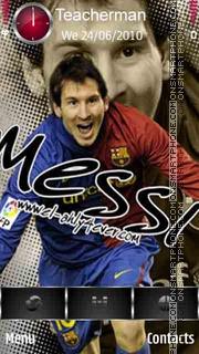 Lionel Messi 2013 theme screenshot