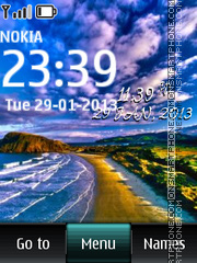 Скриншот темы Beach Digital