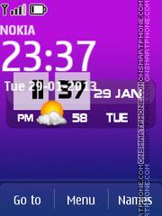 Amazing New Clock theme screenshot