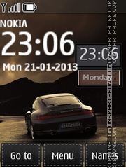 Porsche In Night theme screenshot