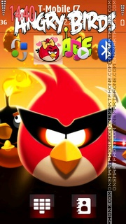Angry birds hd theme screenshot
