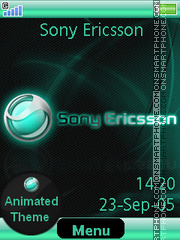 Aqua Sony Ericsson theme screenshot