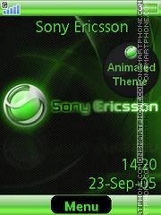Green Sony Ericsson tema screenshot