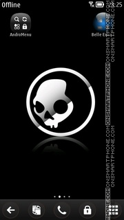 Skull v3 theme screenshot