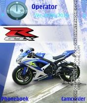 Скриншот темы Suzuki Bikes