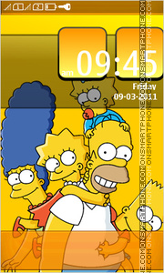 Simpsons Full Touch theme screenshot