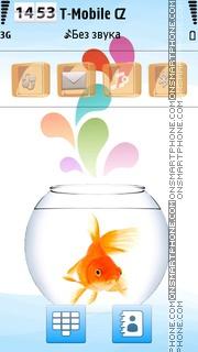 Gold fish 03 tema screenshot
