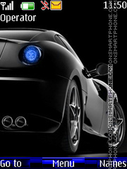 Blue Black Ferrari theme screenshot