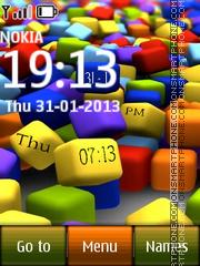 Cubes Digital Clock theme screenshot