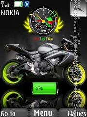 Bike Clock W Battery theme screenshot