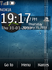 Drops Live Clock theme screenshot