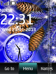 Winter Cones Dual Clock theme screenshot