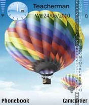 Colours Balloons theme screenshot