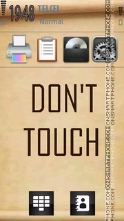 Don't touch theme screenshot