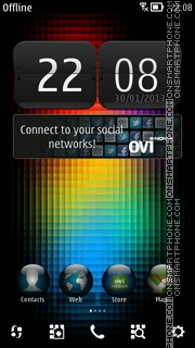 Abstract V8 theme screenshot