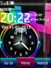 Pink Music Dual Clock es el tema de pantalla