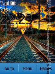 Sunset Railway theme screenshot