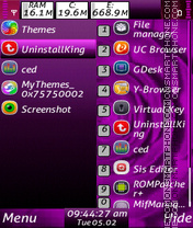 Purple flower s60v3 theme theme screenshot