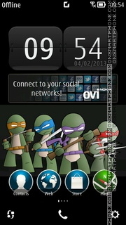 Скриншот темы Ninja