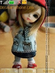 Cute Doll 07 es el tema de pantalla