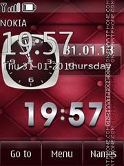Cute analog clock & Date theme screenshot