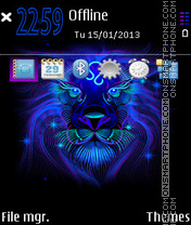 Leo Neon theme screenshot