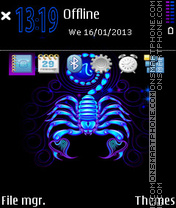 Scorpio Neon tema screenshot
