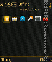 Black Abstract 04 theme screenshot
