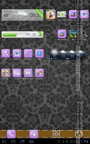 Purple Gloss theme screenshot