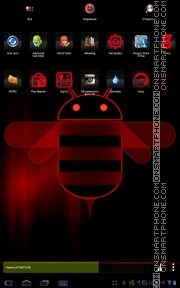 HoneyComp Red theme screenshot